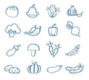 Значки витаминов Иллюстрация штока