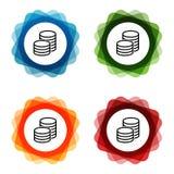 Значки вклада банка монеток евро r иллюстрация вектора