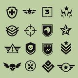 Значки воинского символа Стоковое фото RF