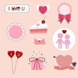 Значки влюбленности Стоковые Изображения