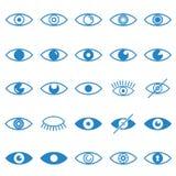 Значки глаза голубые установили на белую предпосылку для графика и веб-дизайна, современного простого знака вектора интернет прин бесплатная иллюстрация