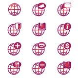 Значки глобуса Стоковое Изображение RF