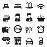 Значки гостиницы бесплатная иллюстрация