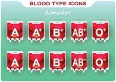Значки групп крови Стоковые Изображения RF