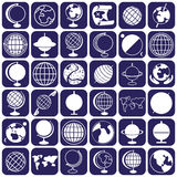 Значки глобуса Стоковые Фотографии RF