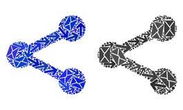 Значки доли мозаики троп почты иллюстрация вектора