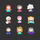 Значки девушки Стоковая Фотография