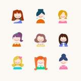Значки девушки Стоковая Фотография RF