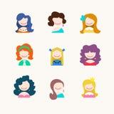 Значки девушки Стоковые Фото