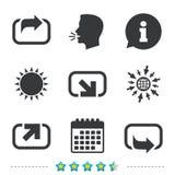 Значки действия Символы доли бесплатная иллюстрация