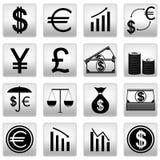 Значки денег Стоковая Фотография RF