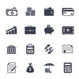 Значки денег Стоковое Изображение RF