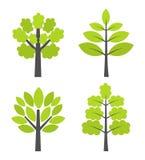 Значки деревьев Стоковые Изображения RF