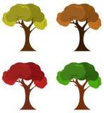 Значки деревьев Стоковое Изображение RF