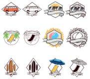 Значки лета Стоковое Изображение RF