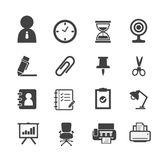 Значки дела и значки офиса Стоковое Изображение