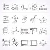 Значки дела и индустрии Стоковая Фотография
