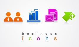 Значки дела установили логотип кнопок вебсайта Стоковые Фото