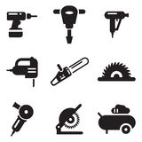 Значки електричюеского инструмента Стоковое Изображение