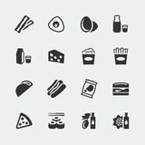 Значки еды вектора установили #2 иллюстрация штока