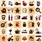 Значки еды Стоковое Изображение