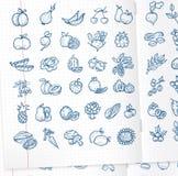 Значки еды Бесплатная Иллюстрация