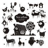 Значки животноводческой фермы Стоковые Изображения