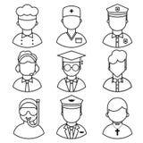 Значки занятия людей иллюстрация штока