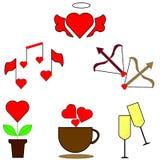 Значки заплаты моды сети с губами, сердцами, пузырями речи, звездами и другими элементами r бесплатная иллюстрация