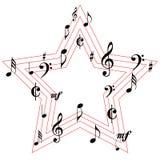 Значки звезды символов музыки Стоковые Фото