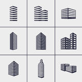 Значки зданий Стоковое Фото