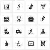 Значки здравоохранения Стоковое фото RF