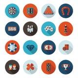 Значки играя в азартные игры в формате Стоковое Изображение RF