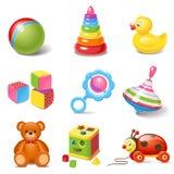 Значки игрушки иллюстрация штока