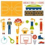 Значки дизайна баскетбола иллюстрация вектора