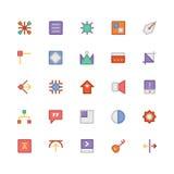 Значки 10 дизайна & вектора развития Стоковое Изображение