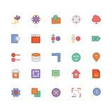Значки 8 дизайна & вектора развития Стоковые Изображения