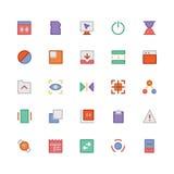 Значки 7 дизайна & вектора развития Стоковая Фотография
