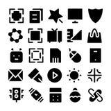 Значки 1 дизайна & вектора развития Стоковые Изображения RF