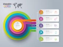 Значки дизайна и дела Infographic Стоковая Фотография