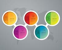 Значки дизайна и маркетинга Infographic Стоковые Изображения
