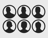 Значки изображения профиля Стоковые Фотографии RF