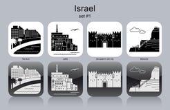 Значки Израиля иллюстрация вектора