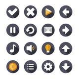 Значки или кнопки установленные для применения телефона иллюстрация штока