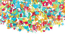 Значки интернета цвета Стоковые Фото