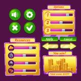 Значки интерфейса игры Стоковое Изображение RF