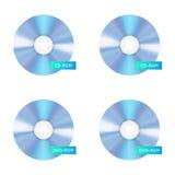 Значки диска КОМПАКТНОГО ДИСКА диск вектора пустой компактный Стоковое фото RF