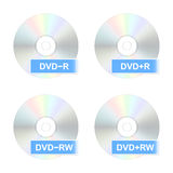 Значки диска DVD также вектор иллюстрации притяжки corel иллюстрация вектора