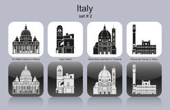 Значки Италии Стоковые Фото
