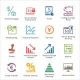 Значки личных & дела финансов - комплект 3 Стоковые Изображения RF